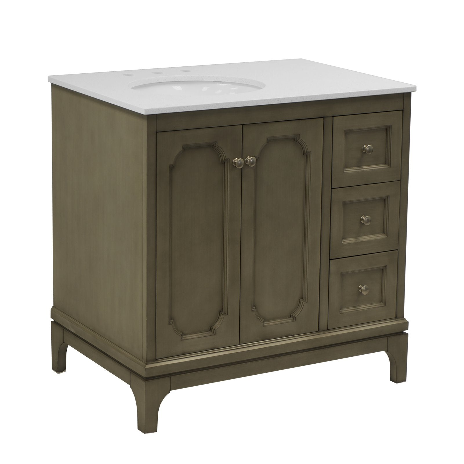 Starboard 36-inch Bathroom Vanity with Quartz Top ...