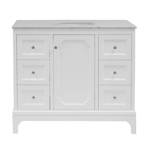 Starboard 42-inch Vanity with Carrara Marble Top