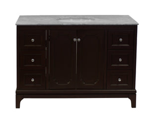 Starboard 48-inch Vanity with Carrara Marble Top