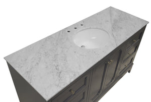 Starboard 60-inch Single Vanity with Carrara Marble Top