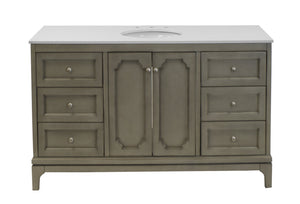 Starboard 60-inch Single Vanity with Quartz Top