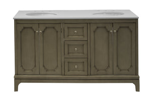 Starboard 60-inch Double Vanity with Quartz Top