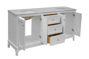 Starboard 72-inch Double Vanity (Carrara Marble)