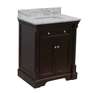 sydney 30 chocolate bathroom vanity carrara marble