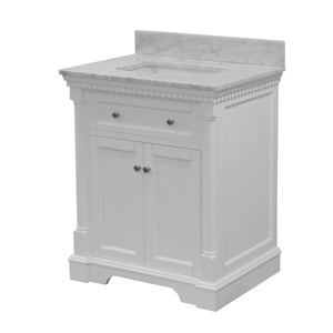Sydney 30-inch Vanity with Carrara Marble Top