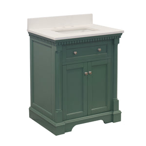 sydney 30 sage green bathroom vanity quartz