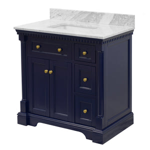Sydney 36-inch Vanity with Carrara Marble Top