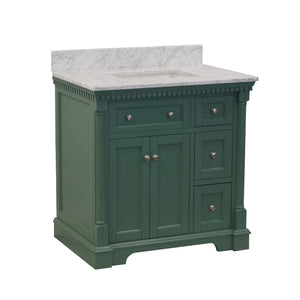sydney 36 sage green bathroom vanity carrara marble