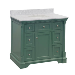sydney 42 sage green bathroom vanity carrara marble