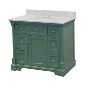 Sydney 42-inch Vanity with Carrara Marble Top