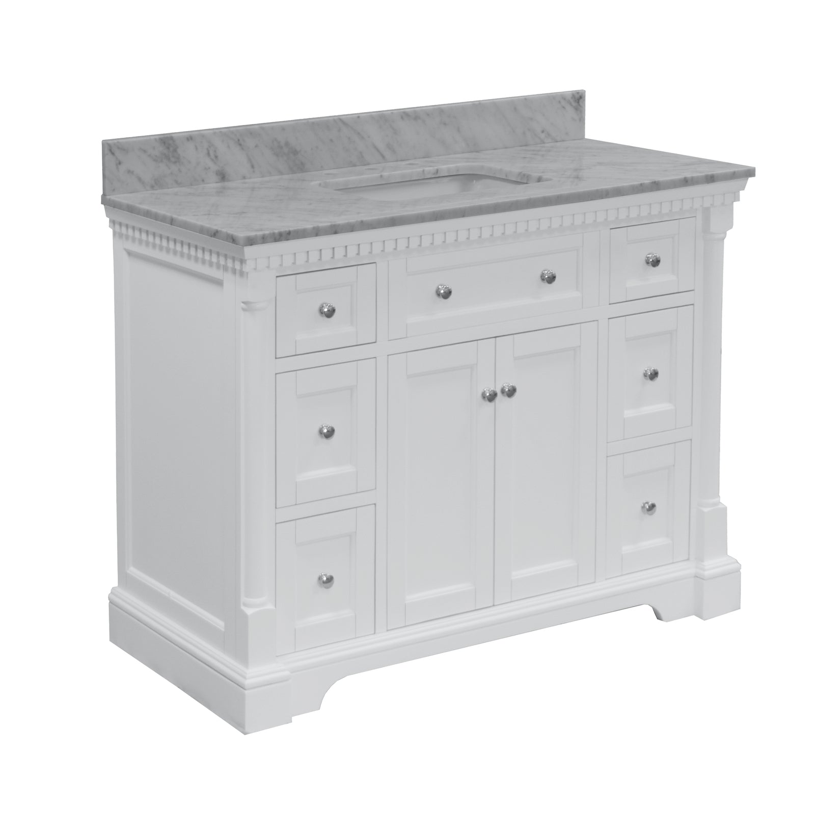 Sydney 48 Freestanding Bathroom Vanity With Carrara Marble Top Kitchenbathcollection