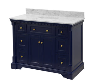 Sydney 48-inch Vanity with Carrara Marble Top