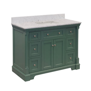 sydney 48 sage green bathroom vanity carrara marble