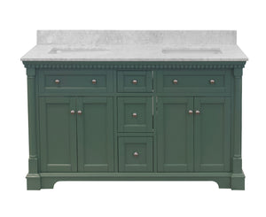 Sydney 60-inch Double Vanity with Carrara Marble Top