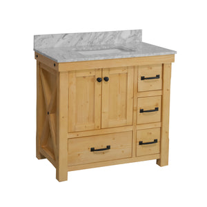 Tuscany 36-inch Vanity with Carrara Marble Top