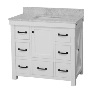 Tuscany 42-inch Vanity with Carrara Marble Top