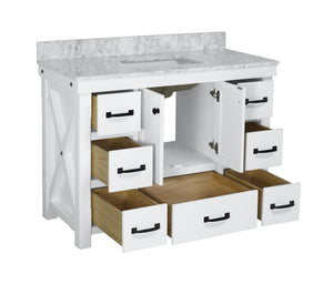 Tuscany 48-inch Vanity with Carrara Marble Top
