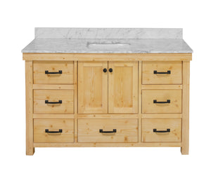 Tuscany 60-inch Single Vanity with Carrara Marble Top