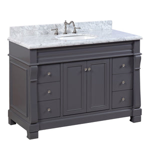 Westminster 48-inch Vanity with Carrara Marble Top
