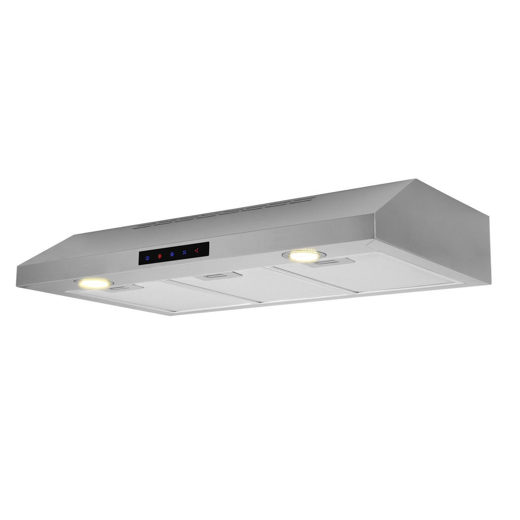 fbb761fbccb 36-inch Stainless Steel Under-Cabinet Range Hood (Model WUC90-LED) –  KitchenBathCollection