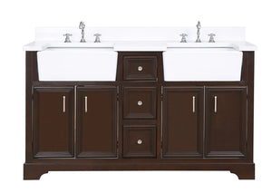 Zelda 60-inch Double Farmhouse Vanity (Quartz)