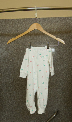 Convert A Hanger used to dry baby clothes in shower