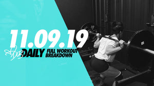 11.09.19 HAMMIES & GLUTES | FULL BREAKDOWN #DLBdaily