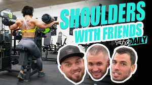 GETTING WORKOUT TIPS FROM MY FRIENDS... | Full Delt Workout | #DLBDAILY