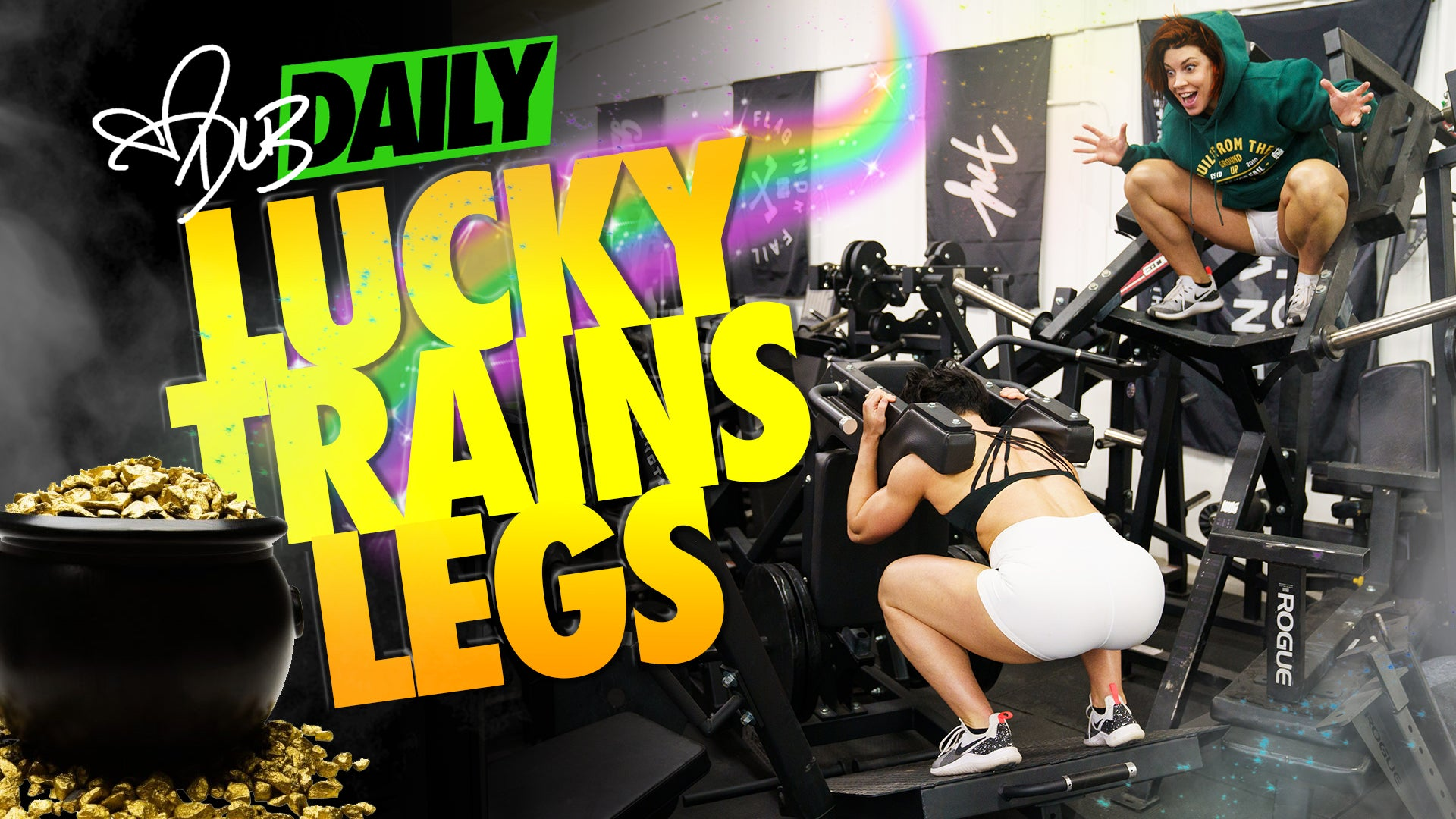 LUCKY THE LEPRECHAUN TRAINS LEGS WITH DLB | 3-17-21 | #DLBDAILY