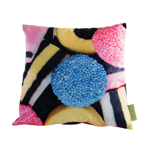 Throw Pillows - Licorice (Square) | SO-NU | Eye Catching Apparel & Home Goods