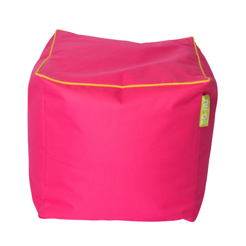 Bean Bag Cube Fuchsia - SO-NU | SO-NU | Eye Catching Apparel & Home Goods