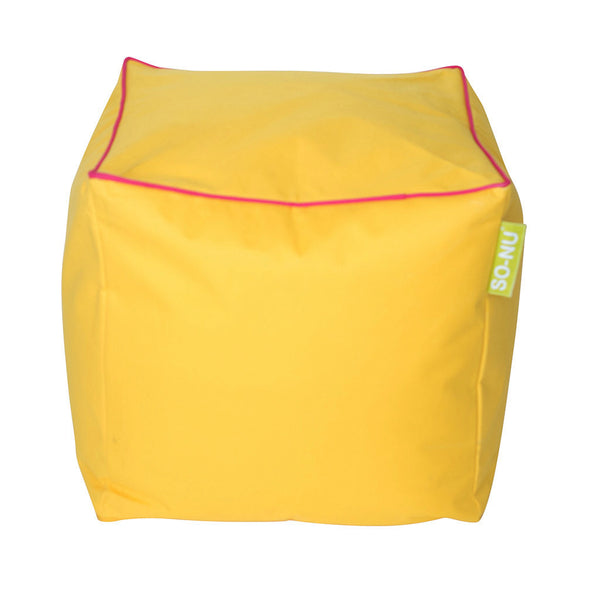 Bean Bag Cube Yellow - SO-NU | SO-NU | Eye Catching Apparel & Home Goods