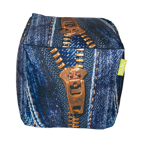 Bean Bag Cube Zipper Print | SO-NU | Eye Catching Apparel & Home Goods