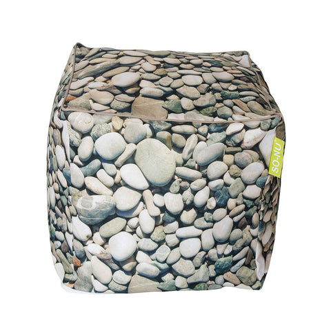 Bean Bag Cube - Pebbles Print (Includes Filling & Shipping) | SO-NU | Eye Catching Apparel & Home Goods