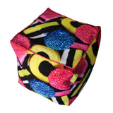 Bean Bag Cube - Licorice Print (Includes Filling & Shipping) | SO-NU | Eye Catching Apparel & Home Goods
