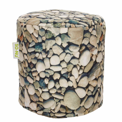 Bean Bag Round Pebbles Print (Includes Filling & Shipping) | SO-NU | Eye Catching Apparel & Home Goods