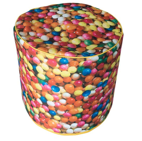 Bean Bag Round Sweets Print (Includes Filling & Shipping) | SO-NU | Eye Catching Apparel & Home Goods