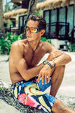 Board Shorts - Licorice | SO-NU | Eye Catching Apparel & Home Goods