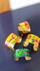 Hand Made Bracelet - Yellow Tones