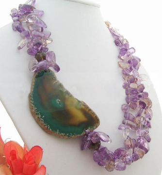 Amethyst and Agate Necklace