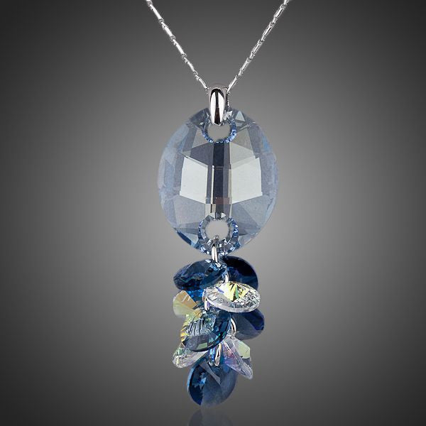 Life is Beautiful - Blue Drop Austrian Crystal Necklace