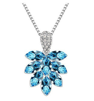 Crystal Fan the Flames of Love Necklace