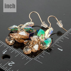 Earrings - Shimmer Nights - Gold Toned Austrian Crystal Earrings