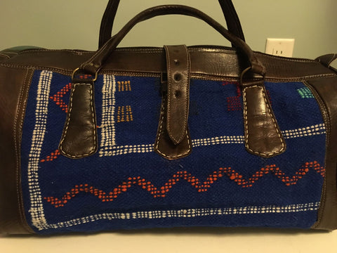 Kilim Travel / Weekend Bag (Blue)