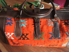 Kilim Travel / Weekend Bag (Orange)