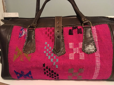 Kilim Travel / Weekend Bag (Pink)