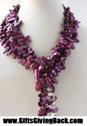 Purple Freshwater Pearl Necklace