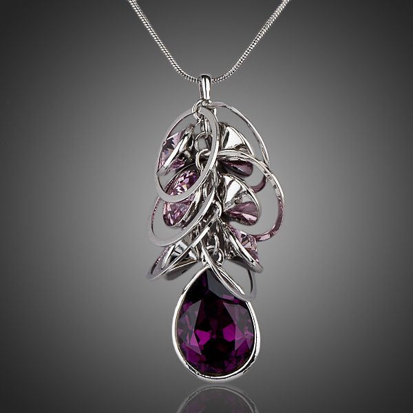 Purple Rain Necklace - Austrian Crystal