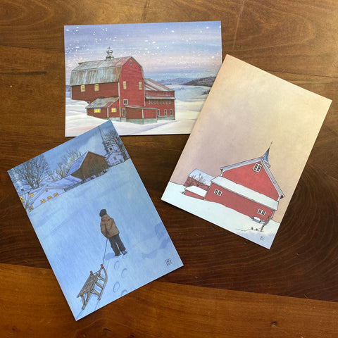 3 Pack Braley Holiday Card - Winter Home