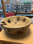 Oak Burl Bowl by Greg Thomas